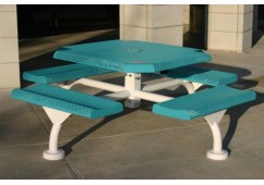 Web Rolled Perforated Web Frame Octagon Picnic Table