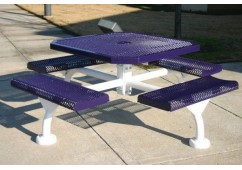 Web Rolled Expanded Web Frame Octagon Picnic Table