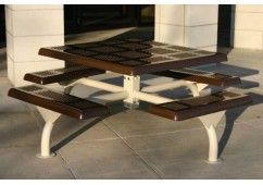 Web Perforated Web Frame Square Picnic Table