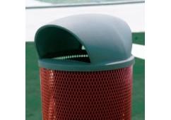 Trash Receptacle 55 Gallon Plastic Dome Top