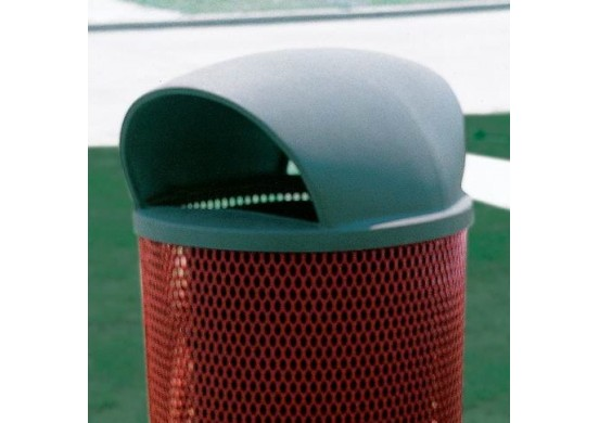 Trash Receptacle 55 Gallon Plastic Dome Top