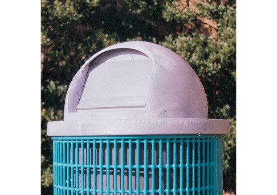 Trash Receptacle Plastic Dome Top