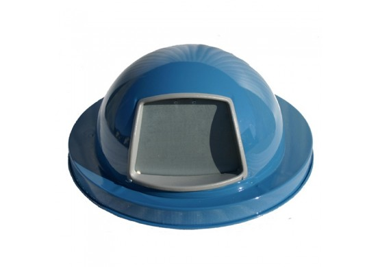 Trash Receptacle Steel Dome Top