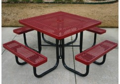 UltraLeisure Perforated Portable Frame Square Picnic Table