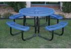 L Portable Frame Circle Picnic Table