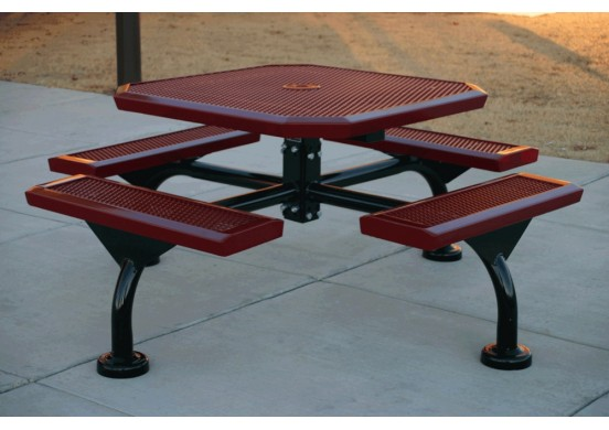 Web Infinity Expanded Web Frame Octagon Picnic Table