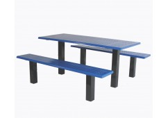 Rectangle Straight Post Picnic Table