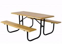 Standard Rectangle Walk Through Frame Picnic Table