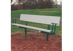 Park Bench with Arms