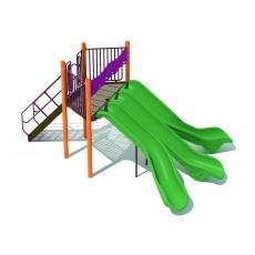 Triple Chute Split Slide