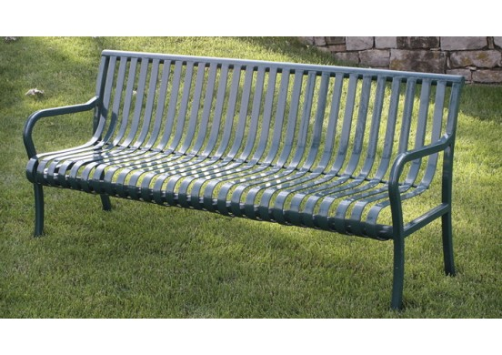 Aspen Ribbed Steel Bench