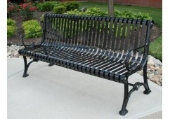 Blair Ribbed Steel Bench