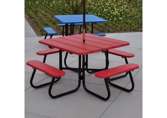 Hybrid Square Style Recycled Plastic Picnic Table