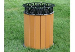 Jamestown Style Recycled Plastic Trash Receptacle