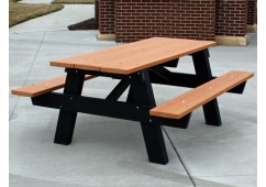A Frame Style Recycled Plastic Picnic Table