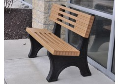 Ariel Style Recycled Plastic Bench