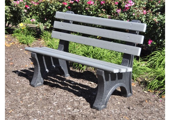 Central Park Style Recycled Plastic Bench