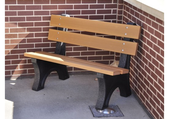 Colonial Style Recycled Plastic Bench