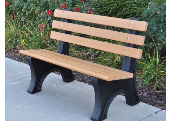Comfort Park Avenue Style Recycled Plastic Bench