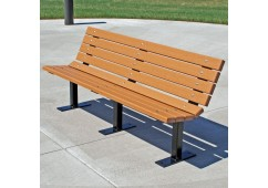 Contour Style Recycled Plastic Bench