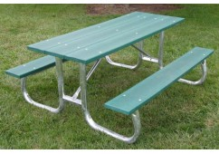 Galvanized Frame Style Recycled Plastic Picnic Table