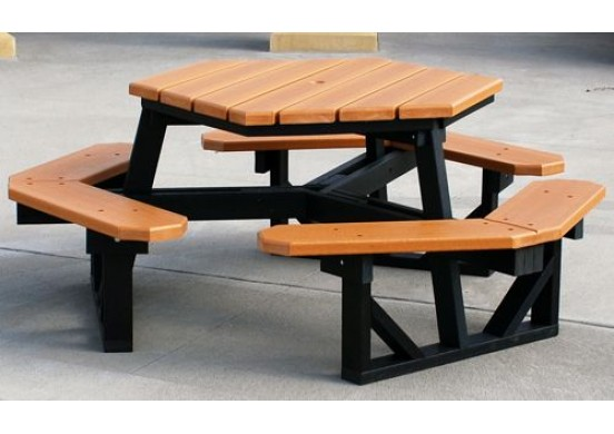 Hex Style Recycled Plastic Picnic Table