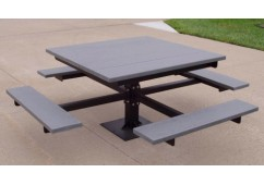 T-Table Style Recycled Plastic Picnic Table