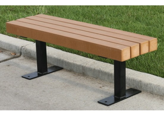 Trailside Style Recycled Plastic Bench