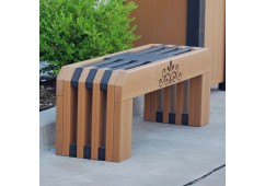 Gateway Style Recycled Plastic Bench