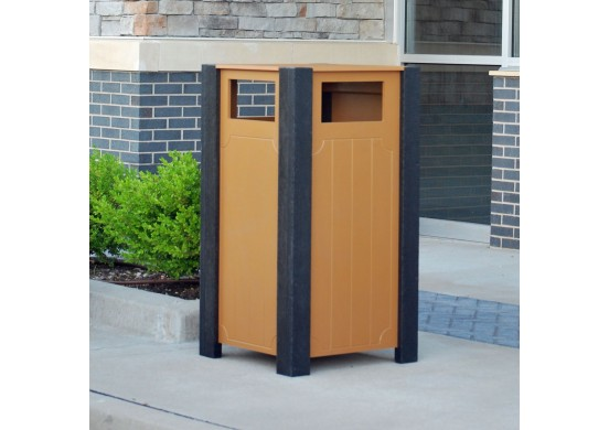 Ridgeview Style Recycled Plastic Trash Receptacle