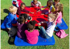 358 Square Preschool Picnic Table