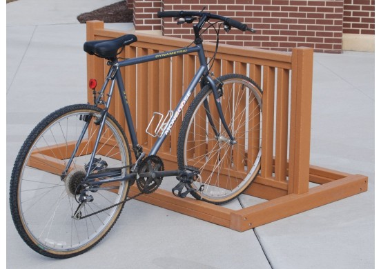 Modern Style Recycled Plastic Bike Rack