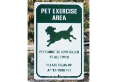 Off-Leash Pet Park Sign