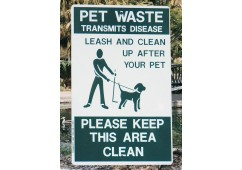 On-Leash Pet Park Sign