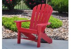 Adirondack Style Recycled Plastic Seaside Chair