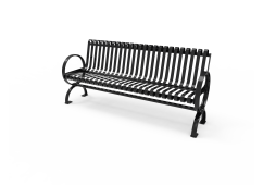 Village Bench with Back