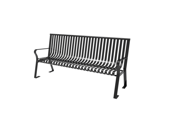 Downtown Bench with Back