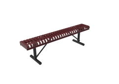 Slatted Steel Rolled Bench without Back