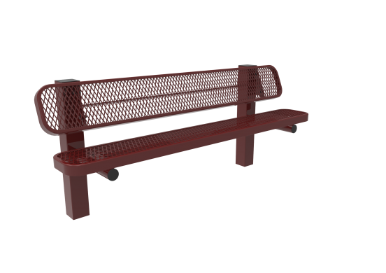 Diamond Pattern Single Pedestal Bench