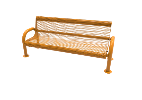 Diamond Pattern MOD Bench with Back
