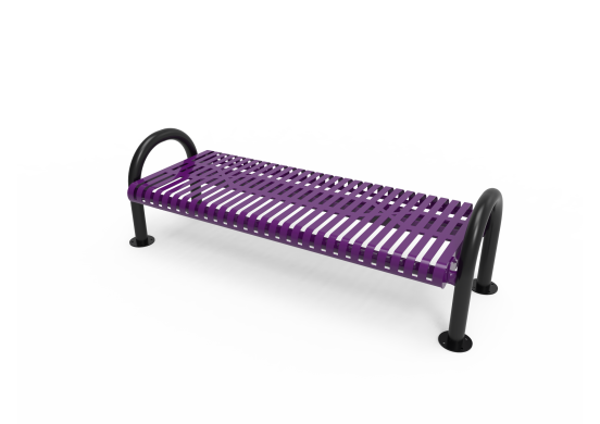 Slatted Steel MOD Bench without Back
