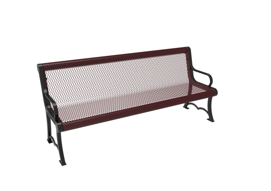 Diamond Pattern Austin Bench with Arms