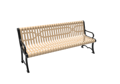 Slatted Steel Austin Bench with Arms