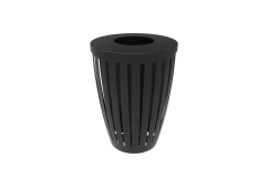 Downtown Trash Receptacle Tapered with Flattop