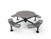 Solid Top Round Nexus Pedestal Table with Diamond Pattern
