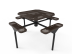 Octagon Nexus Pedestal Table with Diamond Pattern