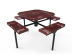 Octagon Rolled Nexus Pedestal Table with Diamond Pattern
