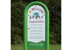 Playground Rules Risk Management Sign