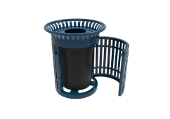 32 Gallon Skyline Side Opening Trash Receptacle with Flared Top and Liner