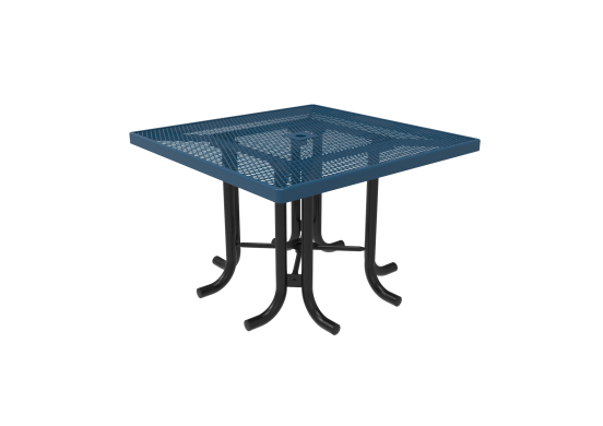 Diamond Pattern Square Patio Table
